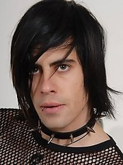 brunette emo guy showing his monster cock